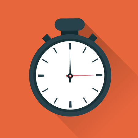 chronometer: Time concept represented by chronometer icon. Colorfull and flat illustration. Illustration