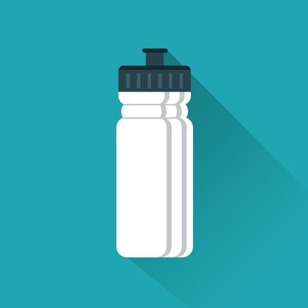 purify: Healthy lifestyle concept represented by water bottle icon. Colorfull and flat illustration. Illustration