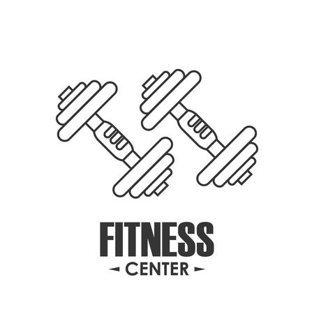 active life: Healthy lifestyle and Fitness concept represented by weight icon. Isolated and flat illustration.