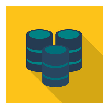 value system: Data center concept represented by Web hosting icon. Colorfull and flat illustration.