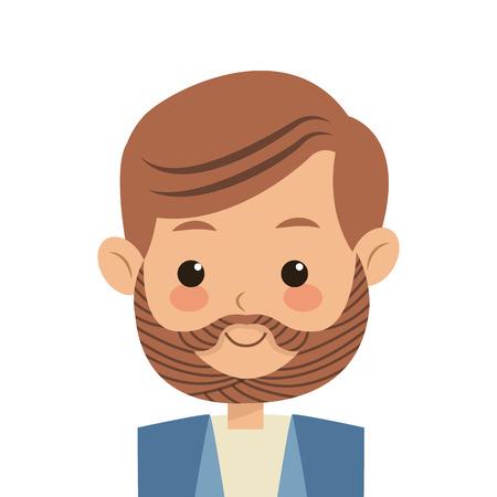 middle age: flat design single middle age man icon vector illustration Illustration