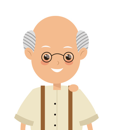 elder: flat design elder man icon vector illustration Illustration
