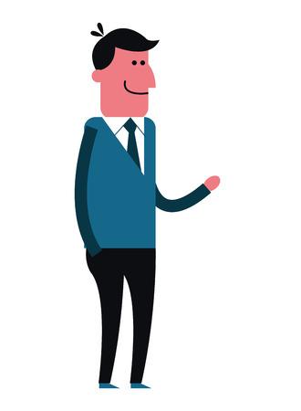 dude: flat design single man icon vector illustration