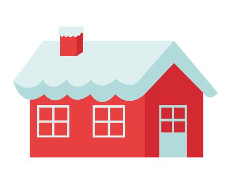 house of santa clause: flat design santa claus house icon vector illustration Illustration