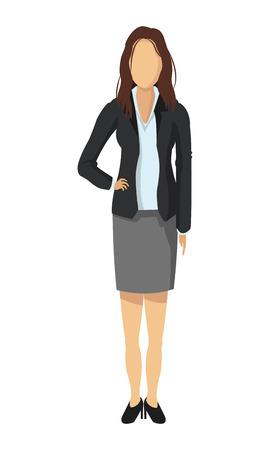 friend chart: flat design business woman fashion icon vector illustration