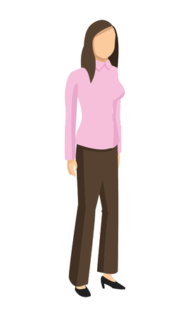 listeners: flat design business woman fashion icon vector illustration