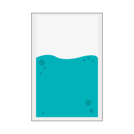 purify: flat design glass of water icon vector illustration Illustration