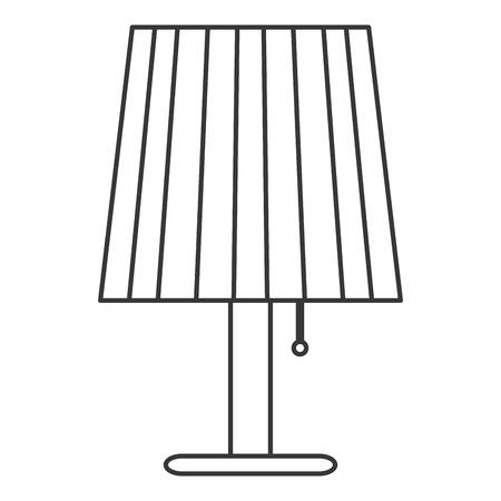lamp shade: flat design single lamp icon vector illustration