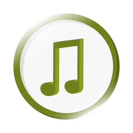quaver: flat design quaver musical note icon vector illustration