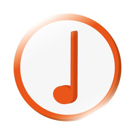 crotchet: flat design crotchet musical note icon vector illustration