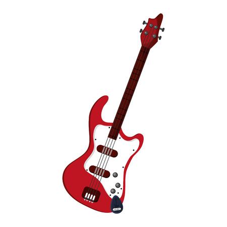 recital: flat design electric guitar icon vector illustration Illustration