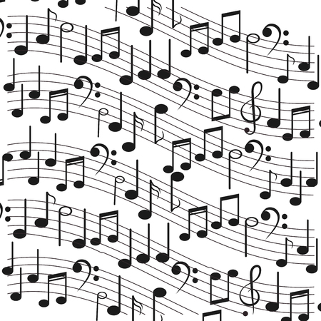 sheet music: flat design sheet music icon vector illustration Illustration