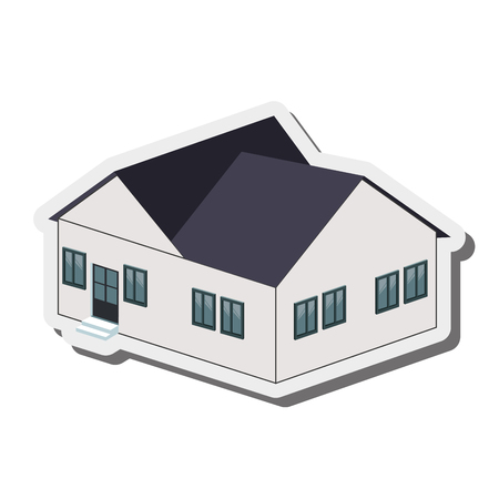 big house: flat design big house icon vector illustration