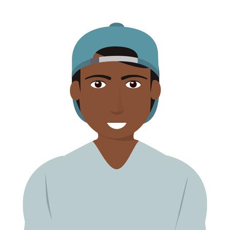 single man: flat design single man icon vector illustration