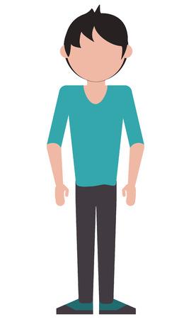 flat design single man icon vector illustration