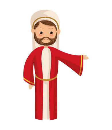saint: flat design saint joseph icon vector illustration
