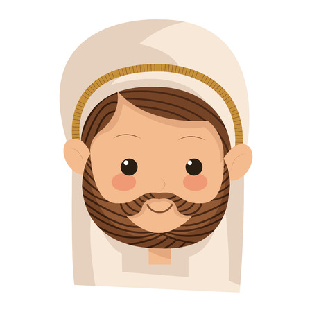 flat design saint joseph icon vector illustration