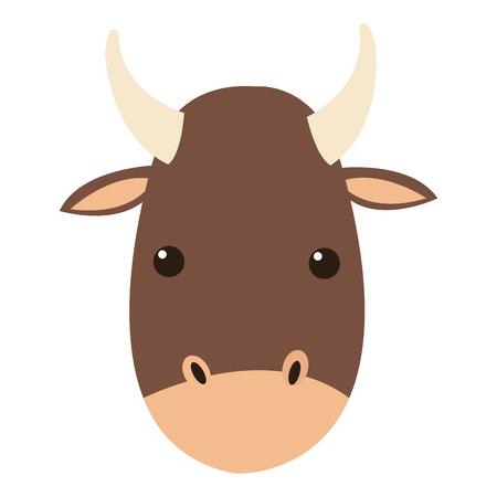 raging bull: flat design bull cartoon icon vector illustration Illustration