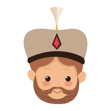 melchior: flat design melchior magi icon vector illustration
