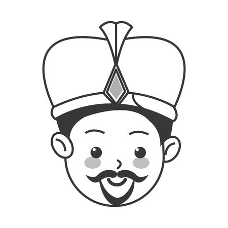 flat design balthazar magi icon vector illustration