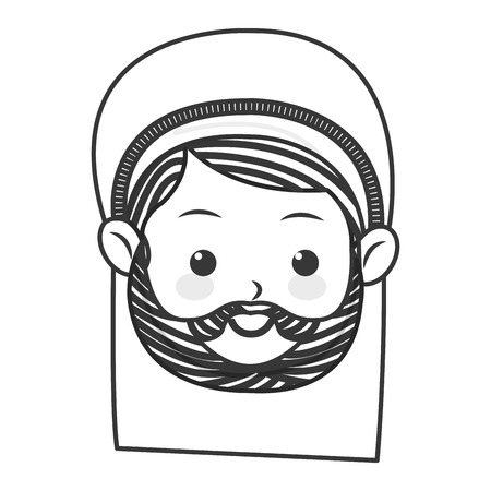 devotion: flat design saint joseph icon vector illustration