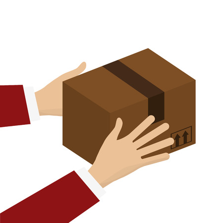 unbuttoned: flat design cardboard box icon vector illustration Illustration