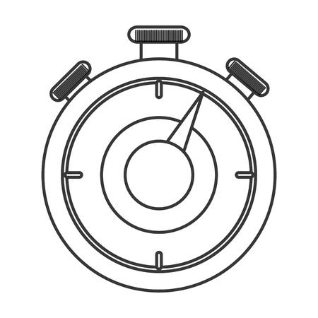chronometer: flat design analog chronometer icon vector illustration