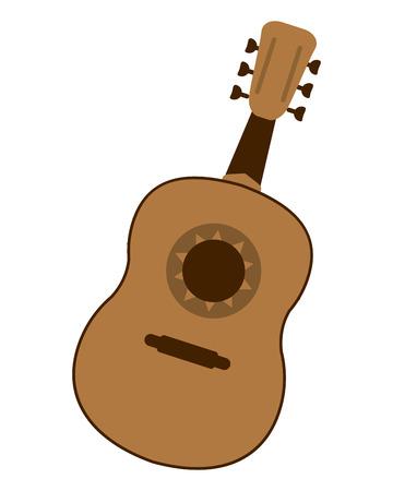 flat design single guitarron icon vector illustration