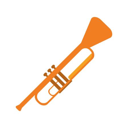 flat design single trumpet icon vector illustration