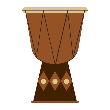 djembe: flat design single djembe icon vector illustration