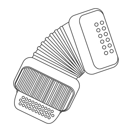 accordion: flat design single accordion icon vector illustration