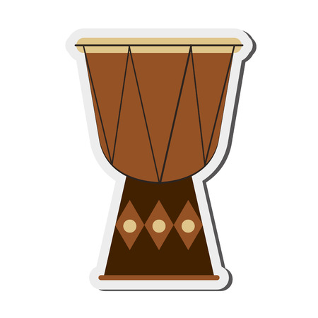 bongo drum: flat design single djembe icon vector illustration