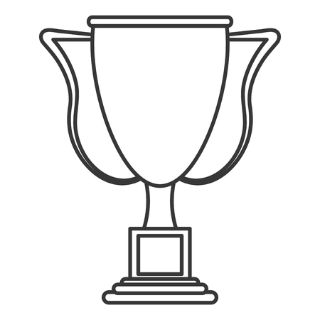 flat design trophy cup icon vector illustration