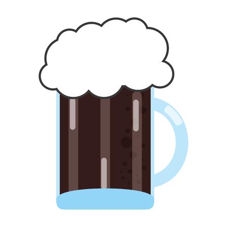 stout: flat design glass of beer icon vector illustration Illustration