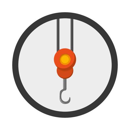 lading: flat design crane hook icon vector illustration