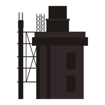 under construction icon: flat design building under construction icon vector illustration Illustration
