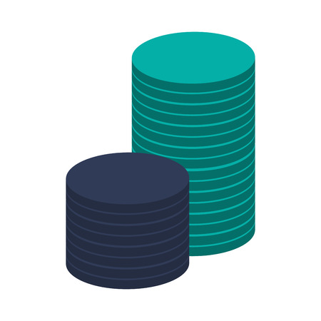token: flat design chip or token icon vector illustration