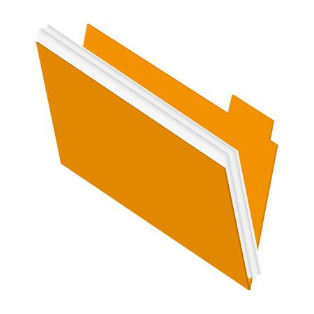 directory: flat design file folder icon vector illustration