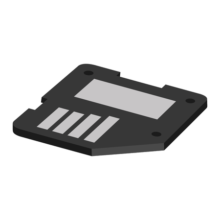 sd: flat design sd card icon vector illustration