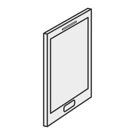 cellphone icon: flat design modern cellphone icon vector illustration