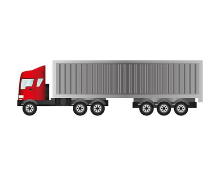 semitrailer: flat design cargo truck icon vector illustraiton