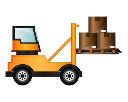 forklift truck: flat design forklift truck icon vector illustration Illustration
