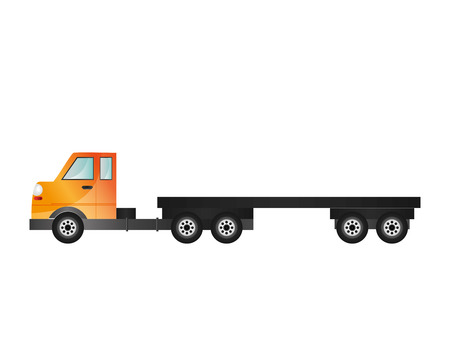 illustraiton: flat design cargo truck icon vector illustraiton