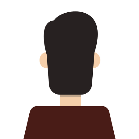 rearview: flat design man rearview icon vector illustration
