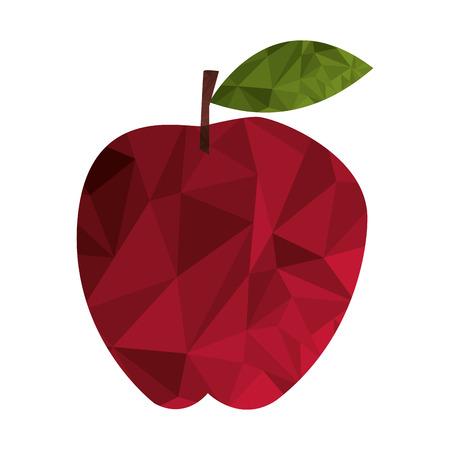 flat design polygon texture apple icon vector illustration Illustration