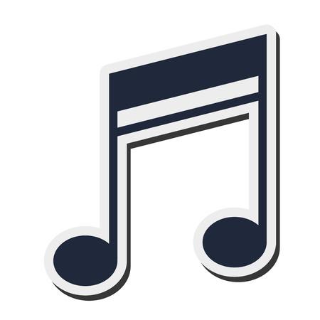 quaver: flat design quaver music note icon vector illustration