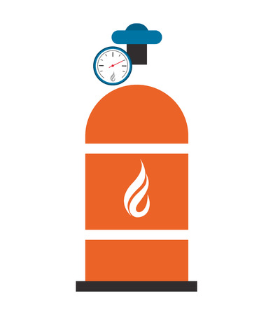 compressed gas: flat design natural gas tank icon vector illustration Illustration