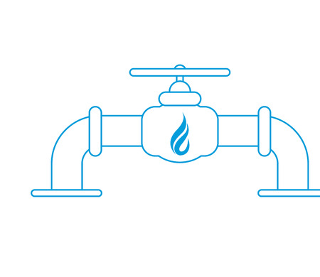 gas pipeline: flat design natural gas pipeline icon vector illustration