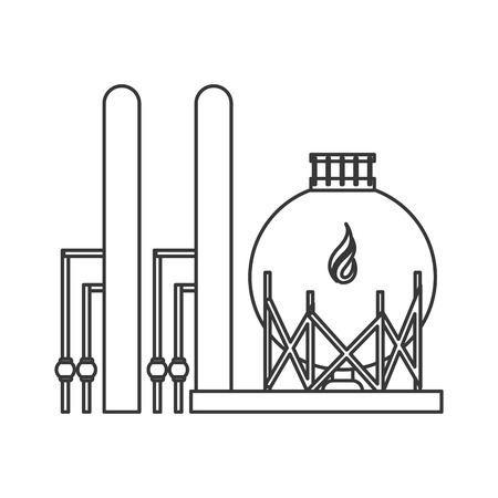 mining ships: flat design gas or oil refinery icon vector illustration