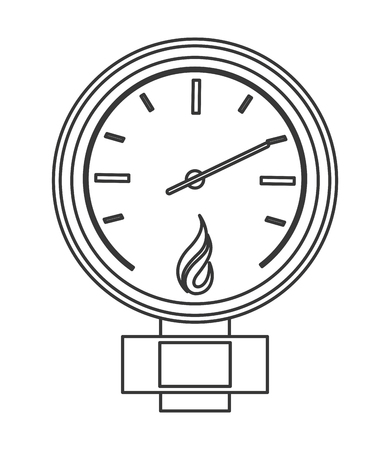 manometer: flat design manometer or pressure gauge icon vector illustration